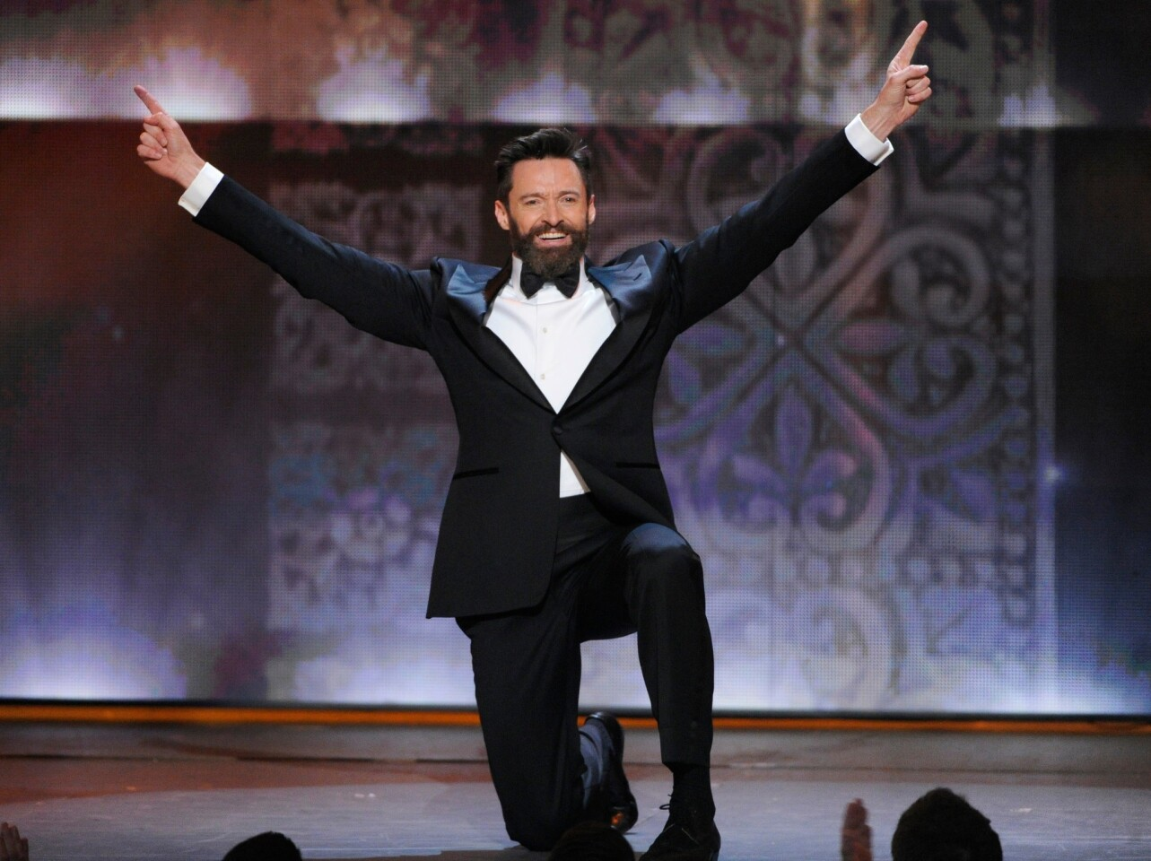 "Host Hugh Jackman opened the Tonys with an homage to Bobby Van's endlessly hopping ""Take Me to Broadway"" number from the 1953 film ""Small Town Girl."" The bit proved to be a Rorschach test with audiences, half saying, ""How charming!"" and the other half saying, ""Why is he hopping? Stop it!"""