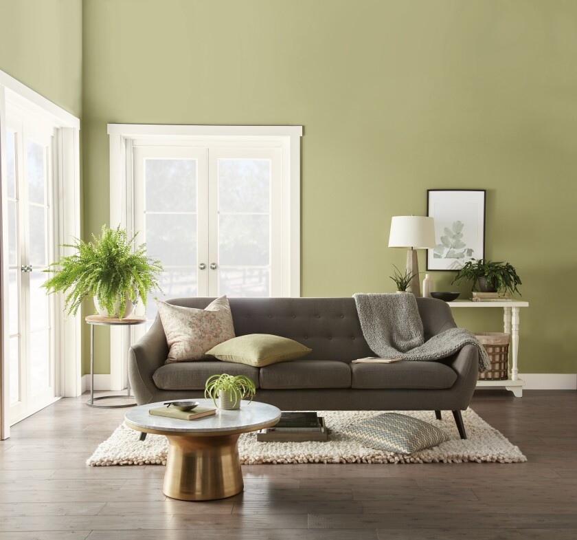 Back to Nature, Behr's pick for 2020 Color of the Year, brings the outside in.