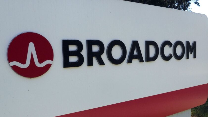 Broadcom bids 130 billion USD to buy Qualcomm, San Jose, USA - 06 Nov 2017