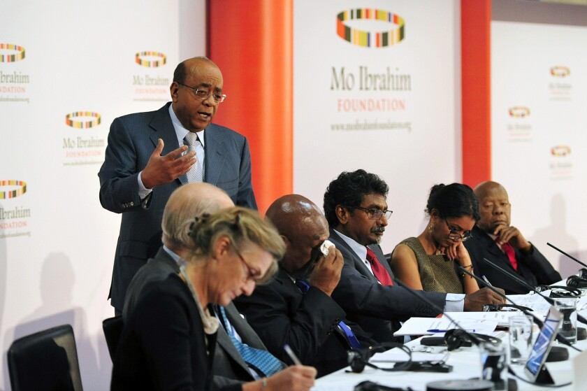 Sudanese-born telecoms tycoon Mo Ibrahim discusses the release in London of the 2013 Ibrahim Index of African Governance, which found a worrying trend in erosion of public safety and the rule of law on the continent. The foundation decided against awarding its 2013 $5-million prize for a former African head of state or government demonstrating exceptional leadership.