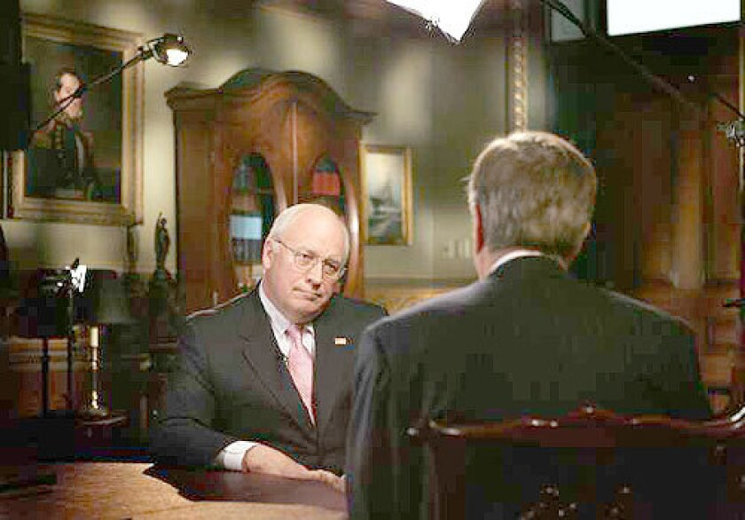 """BREAKING HIS SILENCE: Vice President Dick Cheney is interviewed by Fox News' Brit Hume. He said advisors urged him to """"get the story out,"""" but he decided to wait. """"That was my call,"""" he said."""