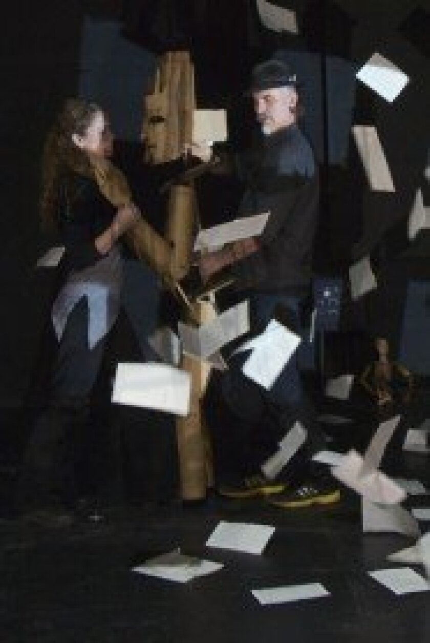 Puppeteer couple Bridget Rountree and Iain Gunn perform together. Courtesy