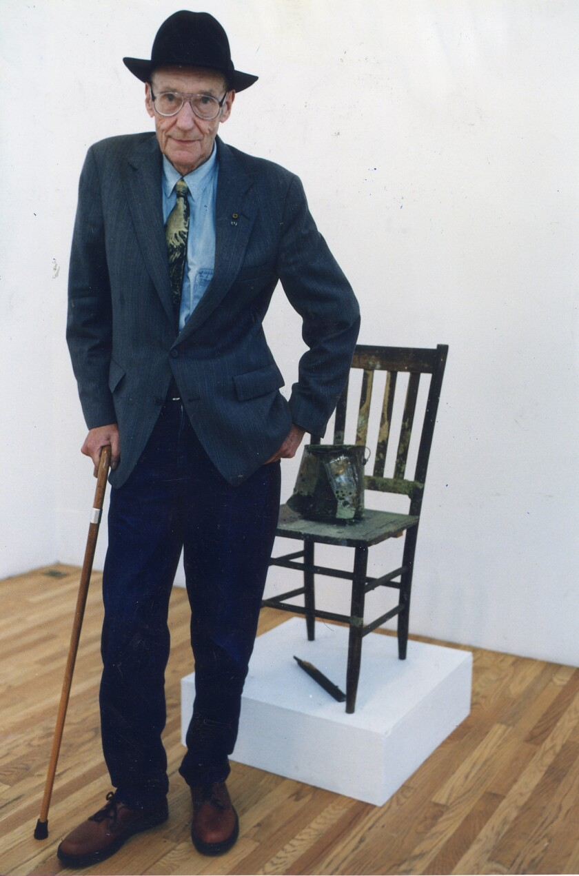 William S. Burroughs, photographed in 1996. Wednesday marks the 100th anniversary of his birth.