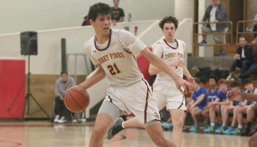 In his final game at Torrey Pines, senior Brand Angel had a team high 18 points.
