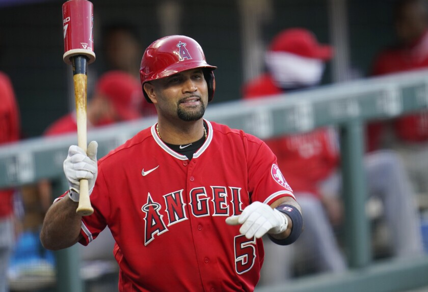 Will this be Angels slugger Albert Pujols' final season in the majors? His wife wrote yes, then not sure.