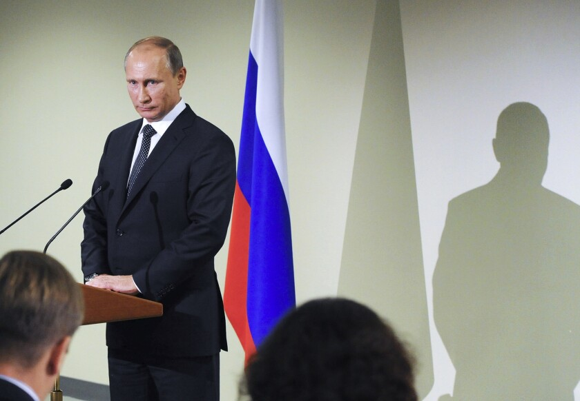 Russian President Vladimir Putin's address to the U.N. General Assembly and his meeting with President Obama on Monday were hailed by Russian media and commentators as an attempt to rescue Syrians from the security mess left by bungled Western intervention.