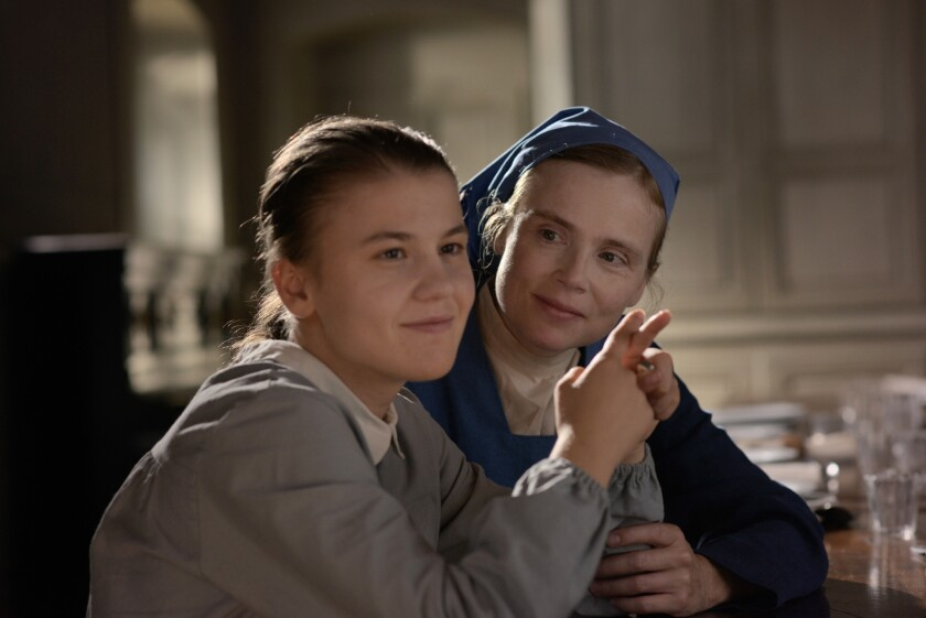 """Ariana Rivoire, left, and Isabell Carre in """"Marie's Story."""""""