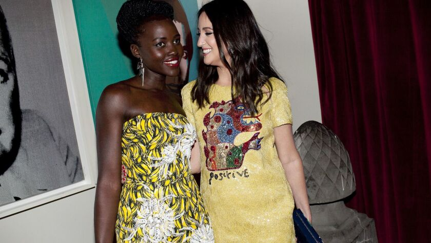 Lupita Nyong'o and Micaela Erlanger