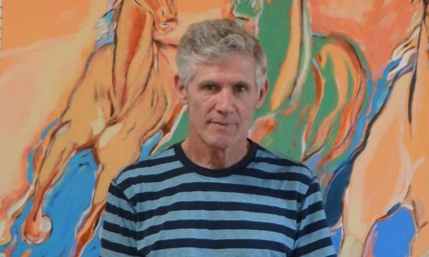 Leedy in his studio: 'I'm at the beginning of a journey,' he says of his return to painting.