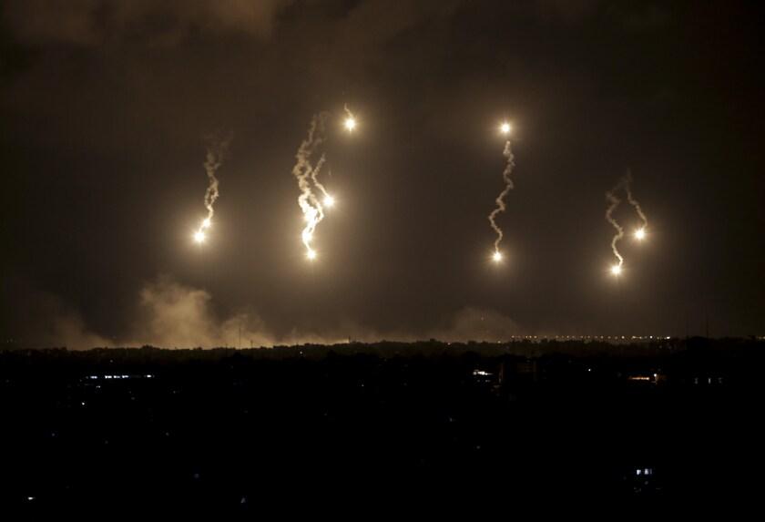 Flares in the Gaza Strip