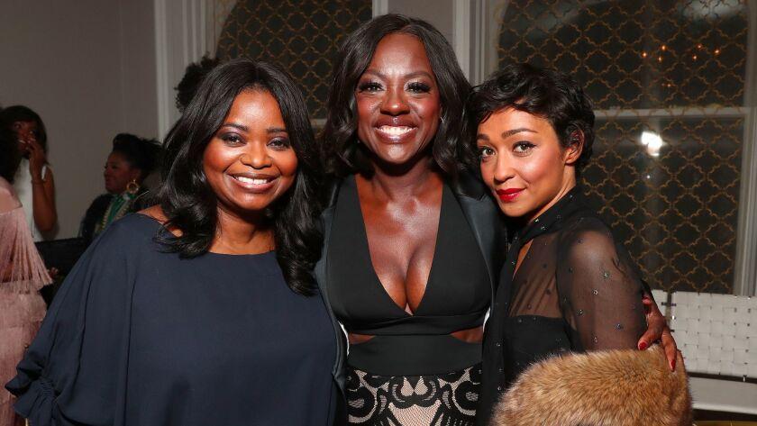 Honorees Octavia Spencer, Viola Davis and Ruth Negga.