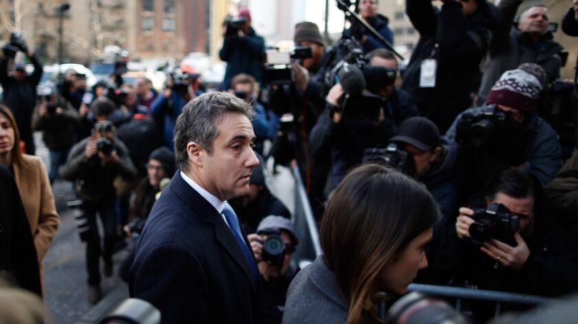 BESTPIX Former Trump Lawyer Michael Cohen Attends His Sentencing Hearing