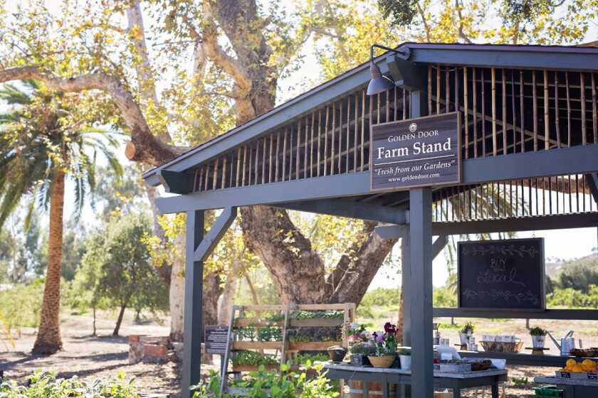 Farm Stand at Golden Door in San Marcos. (Kelle Ramsey)