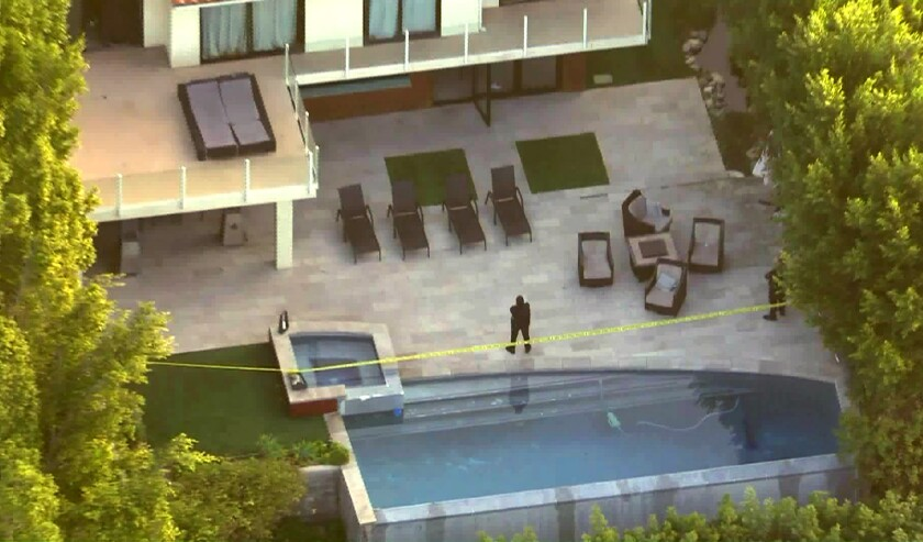 Investigation is underway in the Hollywood Hills