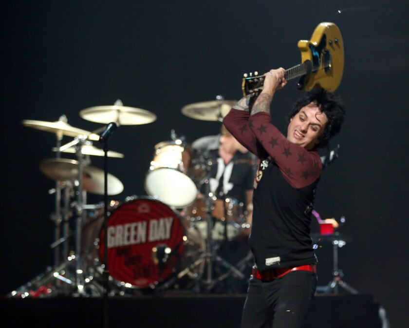 Green Day, led by the smashing guitarist and singer Billie Joe Armstrong, will perform a 2020 summer tour of stadiums in the U.S. and Canada.