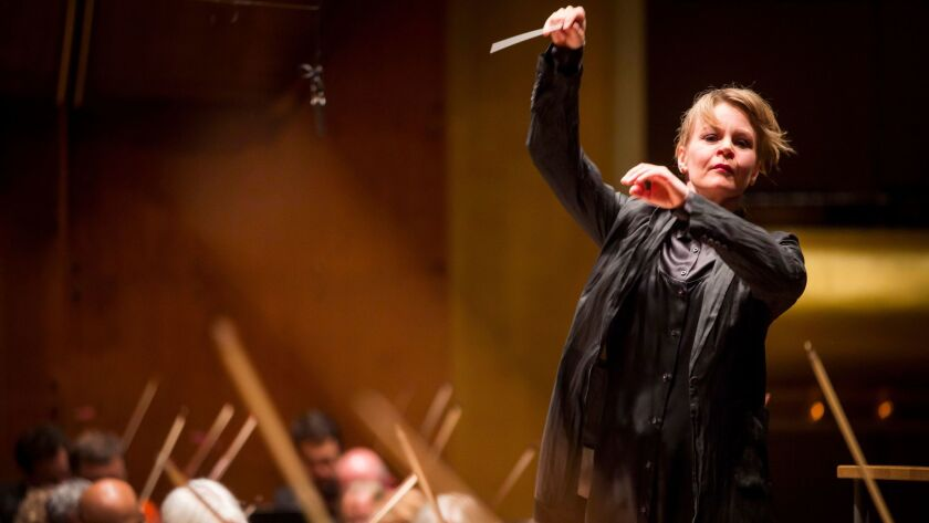 Susanna Mälkki is the principal guest conductor at the L.A. Phil and chief conductor of the Helsinki Philharmonic.
