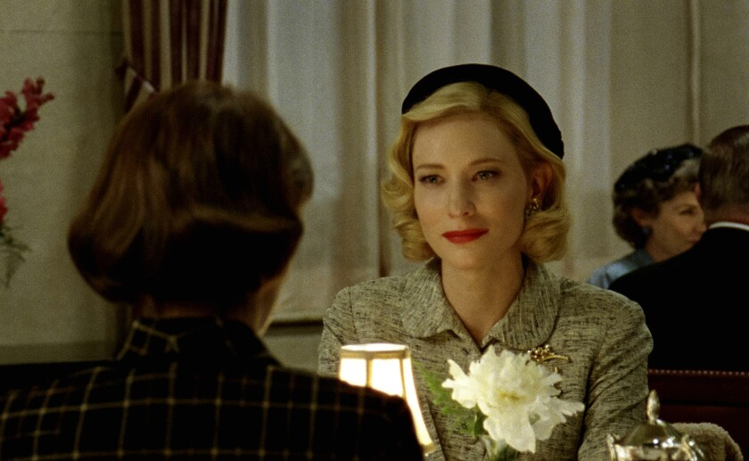 Rooney Mara and Cate Blanchett in 'Carol'