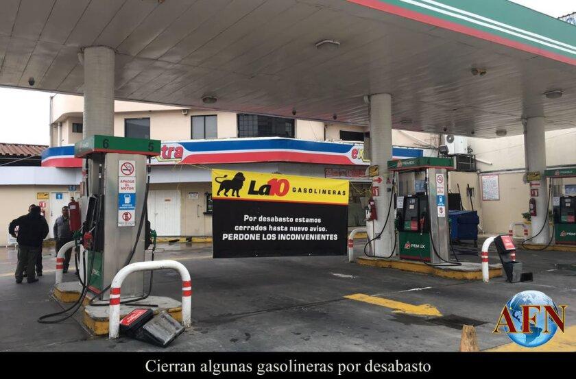 Cierran algunas gasolineras por desabasto
