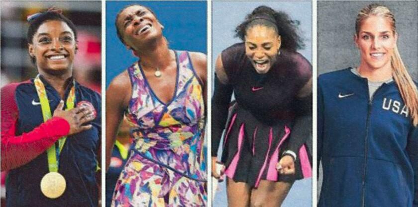 La gimnasta Simone Biles, las tenistas Venus y Serena Williams, la basquetbolista Elena Delle Donne fueron señaladas...