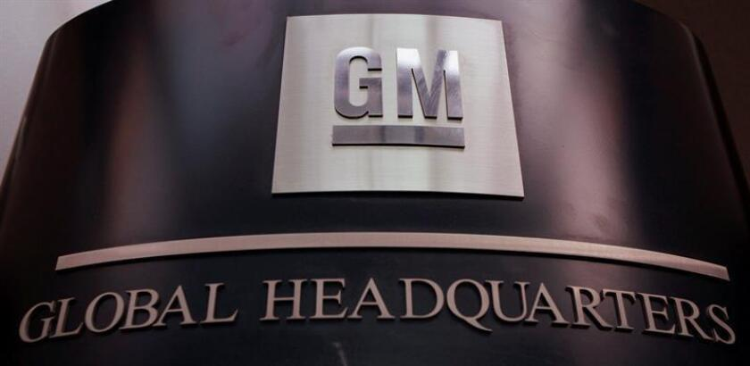 General Motors logo is displayed in their Global Headquarters at the Renaissance Center in Detroit, Michigan, USA. EFE/EPA
