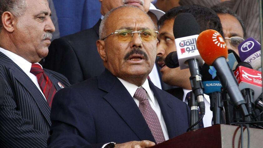 Yemen's ex-president Ali Abdullah Saleh, Sana'a - 24 Aug 2017