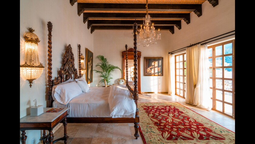 Casa Kimberly in Puerto Vallarta was Elizabeth Taylor and Richard Burton's onetime love nest in the 1960s. Today it's a luxury boutique hotel with nine casita suites. This is the bed in the Cleopatra Suite.
