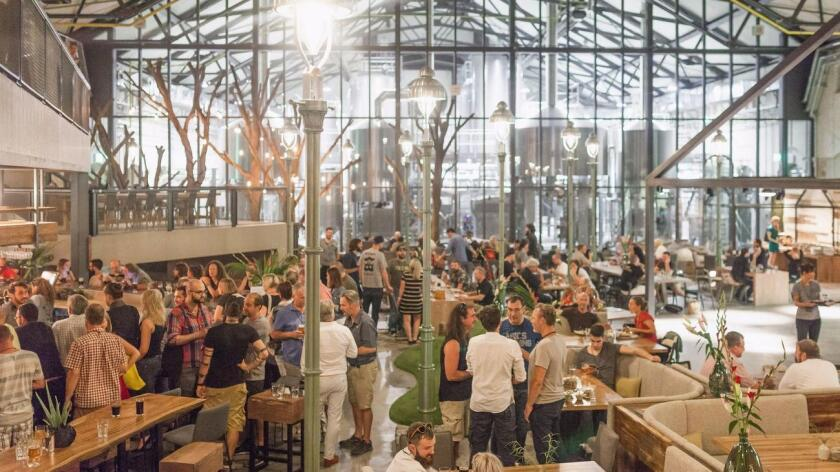 The grand opening of Stone Brewing's Berlin beer hall in September 2016. (Stefan Haehnel / Stone Brewing)