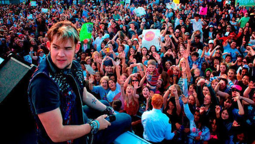 """American Idol"" rocker James Durbin during a homecoming concert at Santa Cruz Beach Boardwalk."