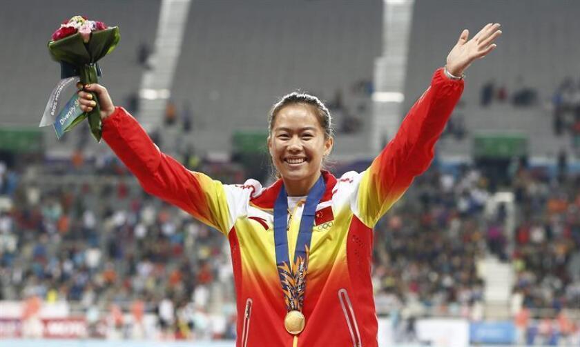 Imagen de la atleta china Wu Shuijiao. EFE/Archivo