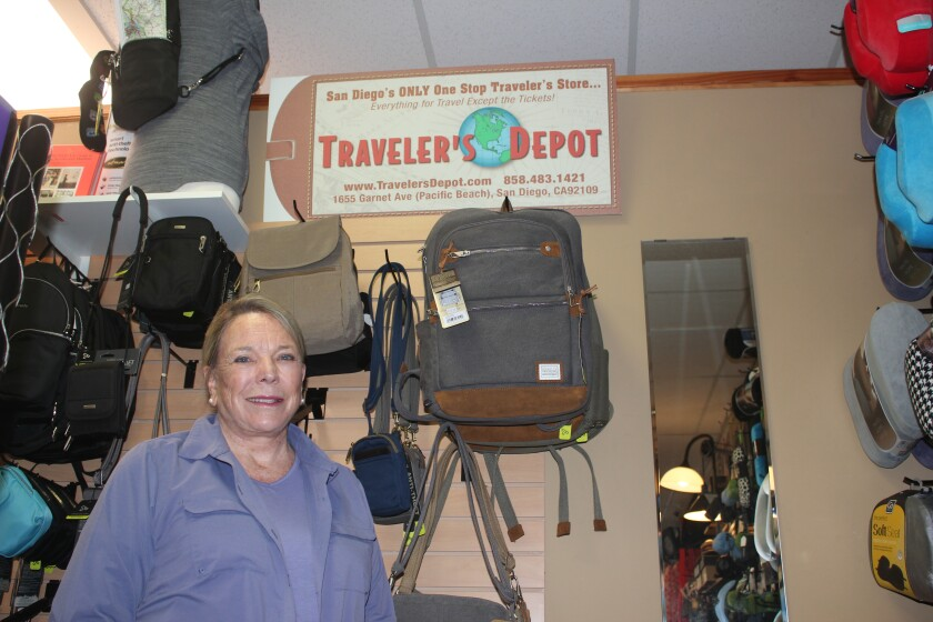 Kay Thayer, owner of Traveler's Depot on Garnet Avenue, has decided to shut the store.