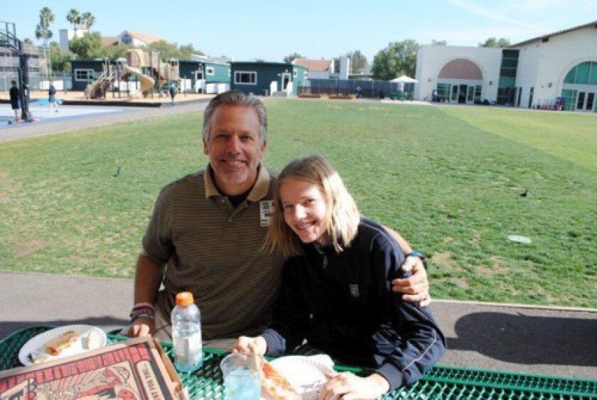 Horizon Prep 7th grader Emma Albrecht with her dad, Andy.