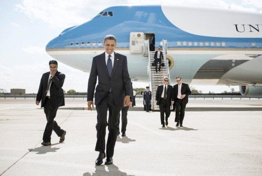 President Obama arrives in New York.