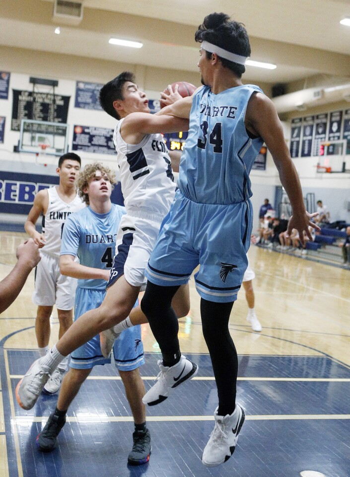Photo Gallery: Flintridge Prep vs. Duarte in non-league boys' basketball