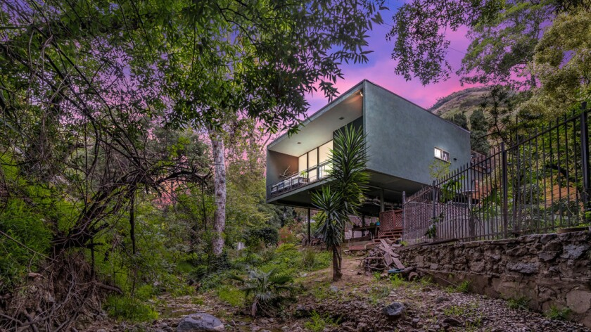The Midcentury Modern-style home in Nichols Canyon hit the market in May for $1.245 million.