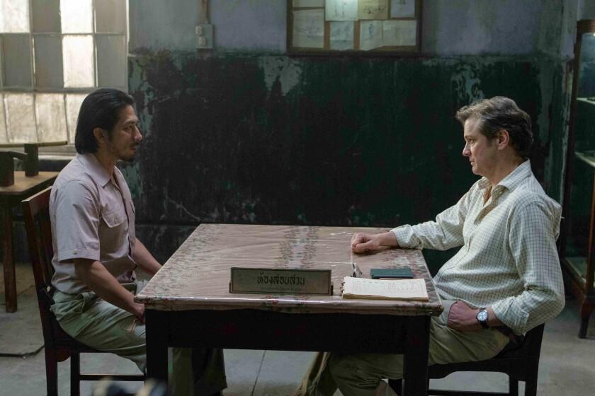 "Hiroyuki Sanada and Colin Firth in ""The Railway Man."""