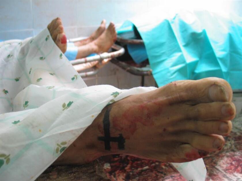 Las morgues de Guerrero tienen un sobrecupo de su capacidad con más de 400 cuerpos depositados, afirmó hoy Carlos de la Peña Pintos, ministro de Salud de ese estado del sur de México. EFE/ARCHIVO