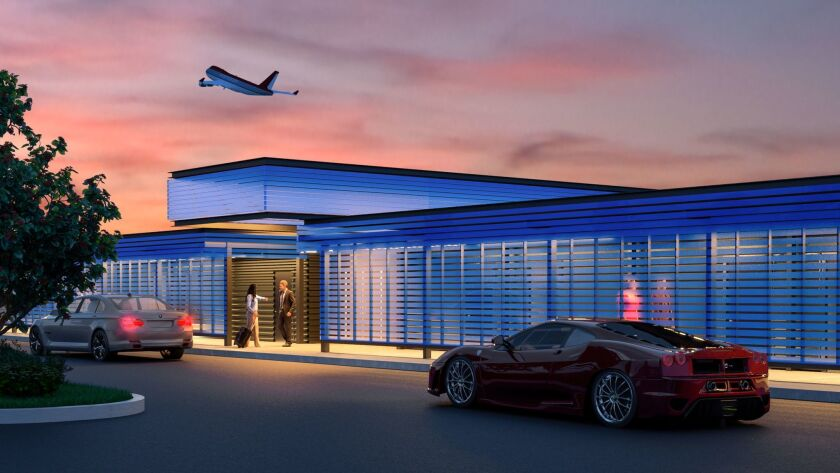 Artist rendering of the new A-list private terminal and platinum class service at LAX called The Pr
