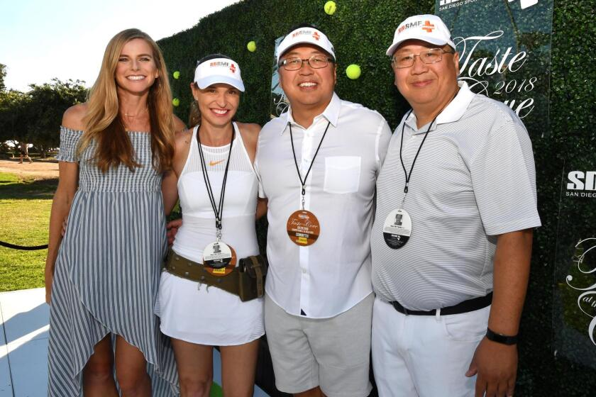 Kim Chao, Angela Berdenacci (event producer), Dr. David Chao (San Diego Sports Medicine Foundation founder), Dr. James Chao