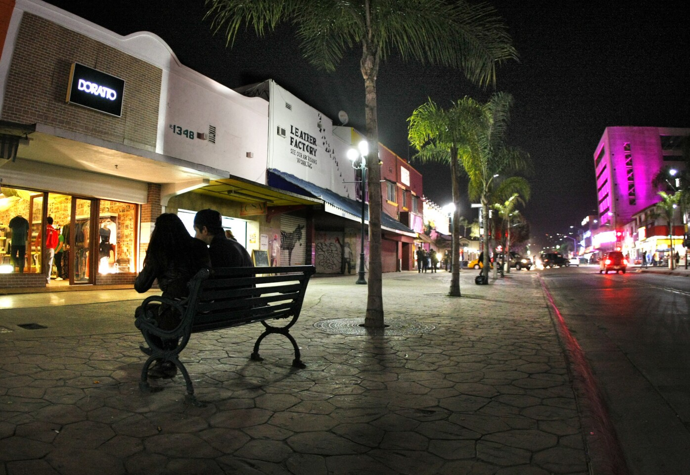 It's a mellow Friday night in Tijuana along a strip on La Revu (Avenida Revolucion), the sense of calm a far cry from years past when fears of drug-war violence kept locals indoors and tourists away.