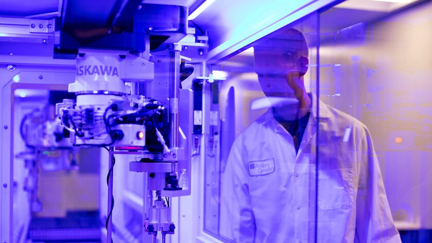 This undated photo shows Ambry Genetics' SuperLab. Aliso Viejo-based Ambry Genetics was acquired by Konica Minolta in a deal valued at $1 billion.