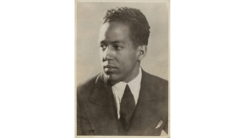 """Langston Hughes, author of the book """"Selected Letters of Langston Hughes,"""" edited by Arnold Rampersad and David Roessel, with Christa Fratantoro."""