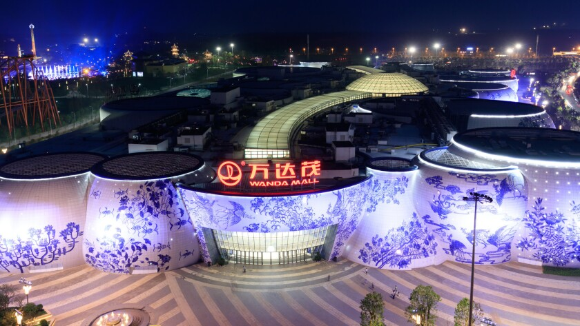 Dalian Wanda Group's Wanda Mall, which is part of the Wanda Cultural Tourism City theme park in Nanjang, China.