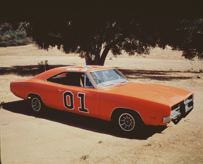 "Part of the reason why reruns of ""The Dukes of Hazzard"" are being dropped from TV Land's schedule is the Confederate flag painted atop the ubiquitous General Lee, an orange Dodge Charger driven by cousins Bo and Luke Duke."