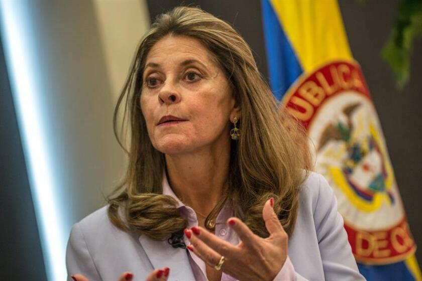 Colombian Vice President Marta Lucia Ramirez takes part in the conference 'The New Government of Colombia: Challenges and Opportunities' at the Miami University, in Miami, Florida, United States, 27 November 2018. EPA/EFE/ Giorgio Viera