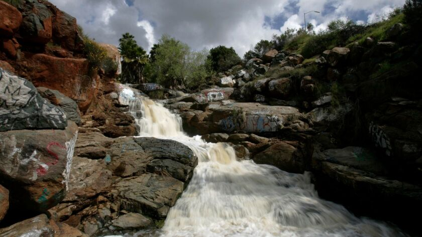 March 21, 2011, San Diego, California,- Adobe Falls in the College area was flowing steadily after