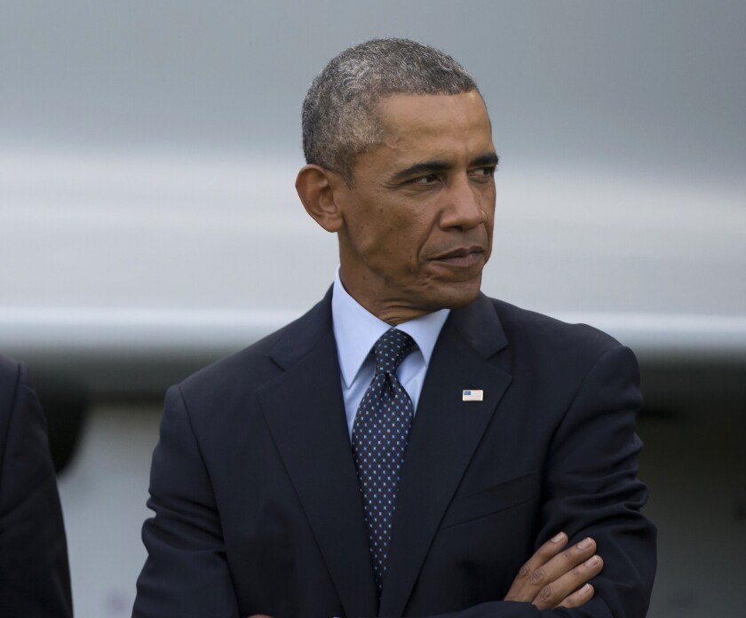 President Obama during ceremonies at the NATO summit in Newport, Wales, on Sept. 5.