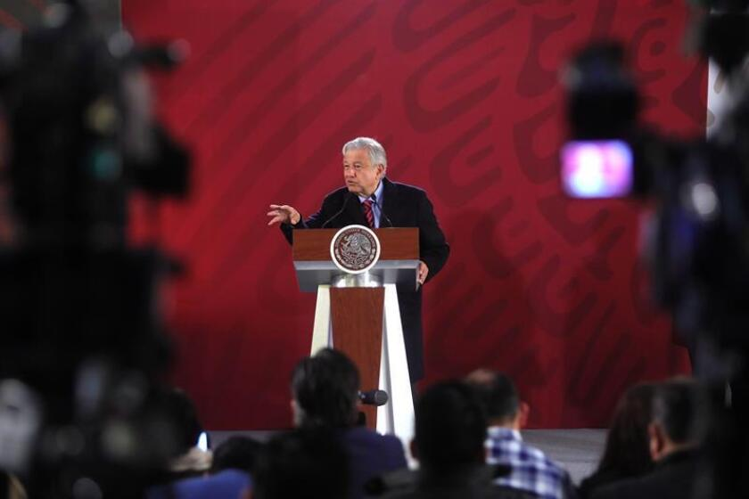 Mexican president Andres Manuel Lopez Obrador Jan. 16, 2019 at a press conference in Mexico City. EPA- EFE/Sáshenka Gutiérrez