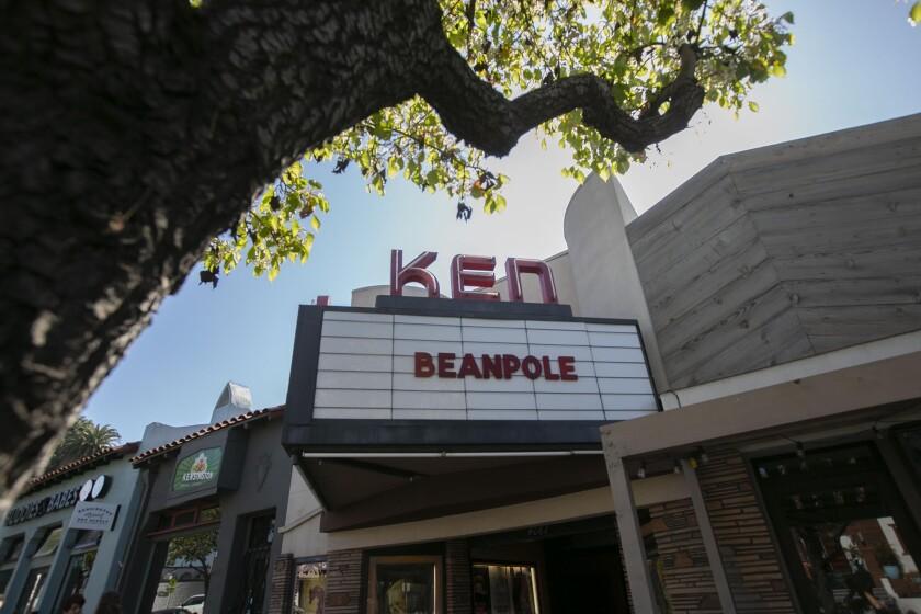 The facade of the Ken Cinema on Monday.