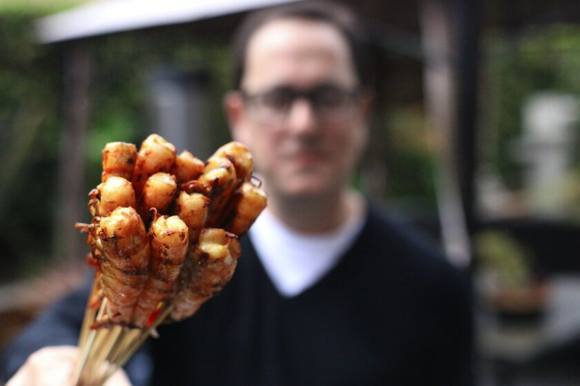 """Chinese Grilled Shrimp is one of the recipes in Sam Zien's new cookbook, """"Just Grill This!"""" It's the second cookbook for the TV personality from Carmel Valley."""