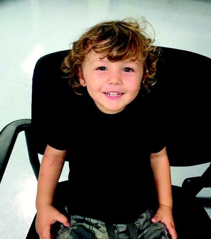 This 2-year-old-boy was found wandering alone at Cottonwood Creek Park located at 95 North Vulcan Avenue in Encinitas just before 1:30 p.m. today, July 15. Courtesy